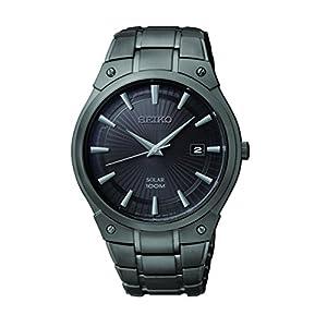 Fashion Shopping Seiko Men's SNE325 Dress Solar Black Stainless Steel Watch