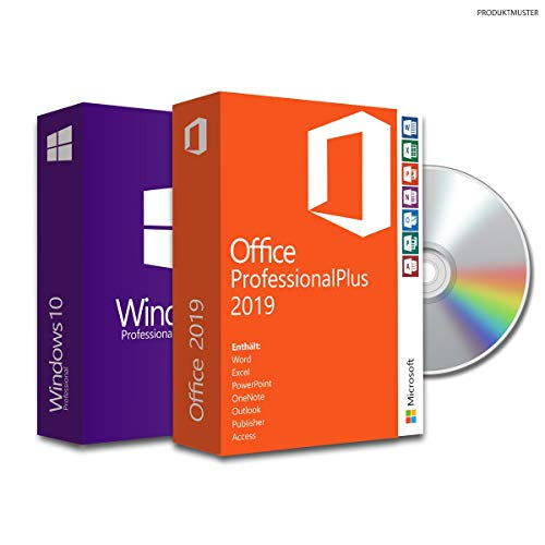 Windows 10 Pro + Office Professional Plus 2019 + Bundle von Softwareunion