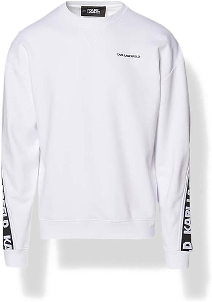 Karl lagerfeld logo tape sweatshirt ,felpa per uomo,83% cotone, 17% poliestere 211M1801