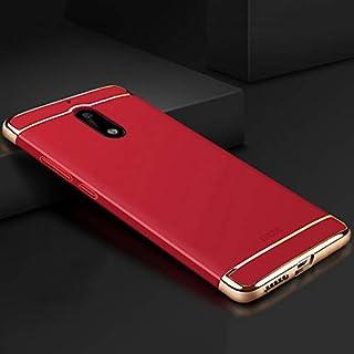 KMLP MOFI for Nokia 6 3段落シールドフルカバー保護ケースバックカバー(ブラック) KMLPカバー (Color : Red)