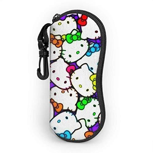 Hello Kitty - Funda para gafas de sol con cierre y ganchos
