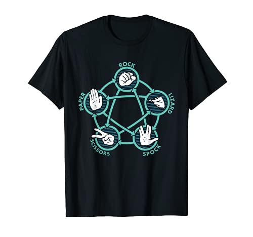 Rock Paper Scissors Lizard Spock Funny Game T-Shirt