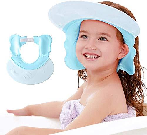 Maydolly Gorra de ducha de bebé, visera de baño ajustable, champú para lavado de pelo, ayuda para niños pequeños, adultos, gorro de ducha para detener el agua en los ojos