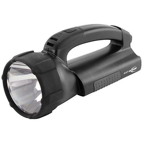 ANSMANN Arbeitsleuchte ASN 15HD Plus inkl integriertem NiMH Akku, Netzteil mit Wechselstecker & Kfz-Kabel - Halogen & LED Lichtquelle 550 Lumen & 30.000 Lux - Handlampe als Werkstattlampe Taschenlampe