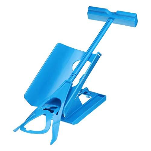 F Fityle Kit de Ayuda Poner Calcetines Calzador, para Ponerse & Sacarse los Calcetines, Medias, Sock Sliders Aid Easy On y Off, 3 en 1, Azul