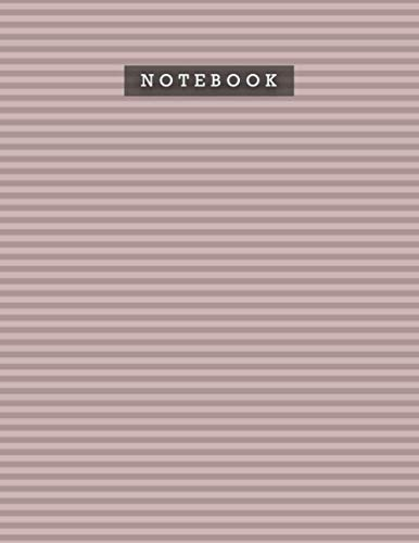 Notebook Rosy Brown Color Foxes Horizontal Stripes Patterns Cover Lined Journal: Personal, Weekly, 21.59 x 27.94 cm, A4, Meal, 8