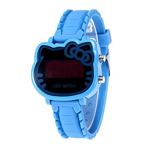 Kinderen kijken XYDBB horloges Kinderen Cartoon digitaal horloge voor meisjes Kinderen Mooie siliconen kinderpolshorloge Klok Zoals afgebeeld5 Blauw
