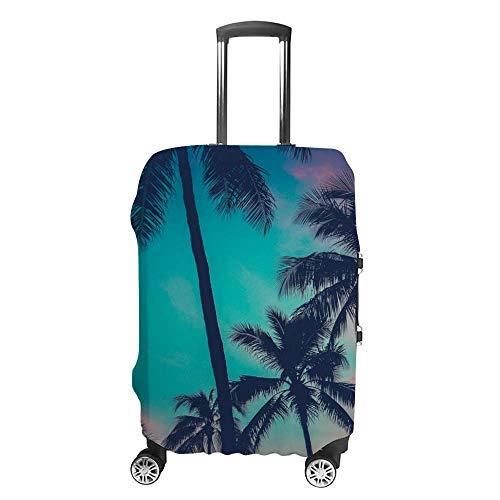 Gepäckabdeckung, verdickt, waschbar, antike Palmen, Sonnenuntergang, Polyester, Faser, elastisch, faltbar, leicht, Reisekoffer-Schutz