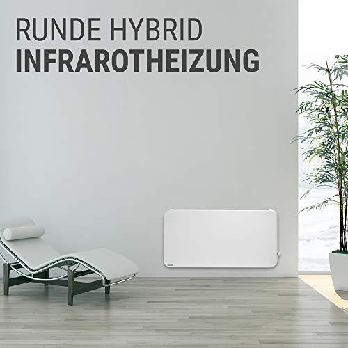 VASNER Konvi Plus Design Infrarot-Hybridheizung 600 Watt weiß re Ecken 60x60cm Thermostat Bild 2*