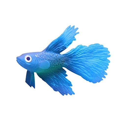 Simulation Faux poissons d'aquarium Décorations Pour réservoir Multicolor poisson Bleu