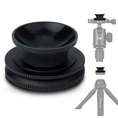 WonderFoto Crystal Lens Ball Ständer für Glaskugel, 50 mm - 100 mm Durchmesser, Saugnapfhalterung 1/4 Zoll - 20 Innengewinde Arca Swiss Type Plate Design (Aluminiumlegierung + Silica Gel)