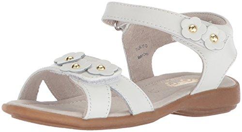 See Kai Run Girls' Olivia Flat Sandal, White, 9 M US Toddler
