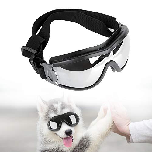 Hunde Sonnenbrille Verstellbarer Riemen Winddichte Regensichere Sonnenbrille für Stilvoller UV-Schutz Wasserdichter Schutz für kleine und mittlere Hunde