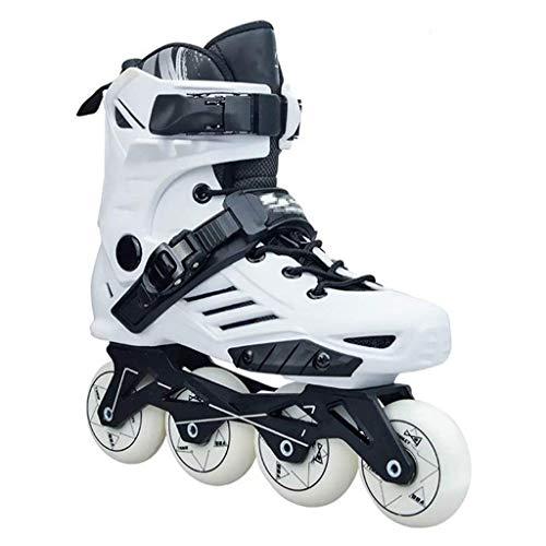 LQ Speed Inline Roller Skates Profi Roller Skating-Schuhe for Kinder Männer Frauen, 2 Farben (Color : White, Size : 40 EU/7.5 US/6.5 UK/25cm JP)