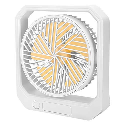 SODIAL Ventilador USB de Escritorio RefrigeracióN PortáTil Ventilador de 3 Velocidades con áNgulo Ajustable de RotacióN 360 para Oficina Hogar Viajes Amarillo