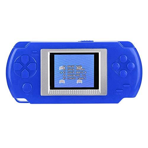 minifinker Consola de Juegos, Rompecabezas de Mano, Reproductor de Mano con protección Ocular, para Regalo de cumpleaños, para Fiesta Familiar, para niños(Blue)