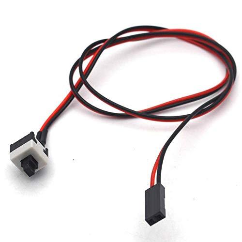 Jumper, PC 2Pin ATX Chassis Power Switch Jumper, ATX Computer Gehäuse Power Button Motherboard Jumper Schalter für ATX Chassis, Switch Kabel
