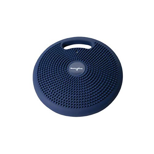 Bouncyband Portable Wiggle Seat Sensory Cushion Improves Kids' Focus in School & Home (Blue)