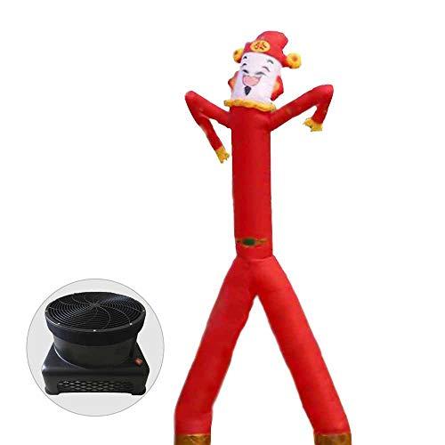 HXY Sky Puppe im Freien Tänzerin Luft fliegt Mann mit Gebläse aufblasbaren Schlauch Mann für offenes Zeichen Werbung Tänzerin mit abnehmbarem Zubehör Werbe-Ballon,26.3ft/c1100