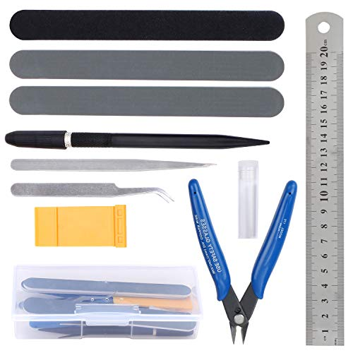 HSEAMALL Kit de herramientas modelo Guandam, herramientas básicas de modelador para Bandai Hobby Gundam modelo de coche reparación de edificios