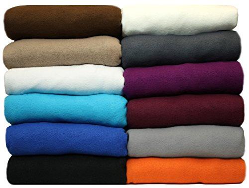 NatureMark Winter Thermo Fleece Spannbettlaken, Spannbetttuch in vielen Farben und Größen Bettlaken | 180 x 200 cm bis 200 x 200 cm - anthrazit