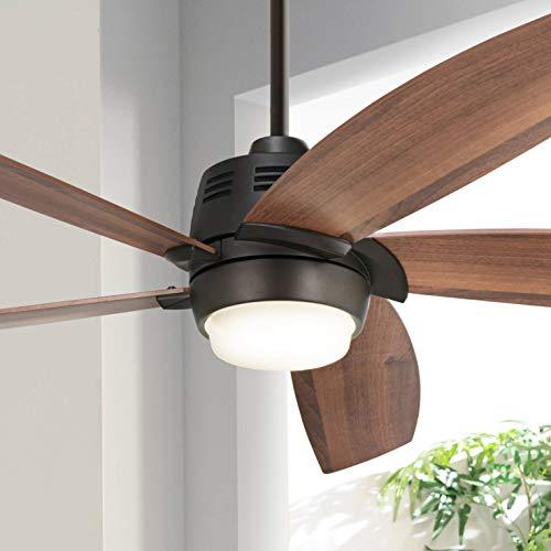"56"" Casa Ecanto8482; Oil-Rubbed Bronze LED Ceiling Fan - Casa Vieja"