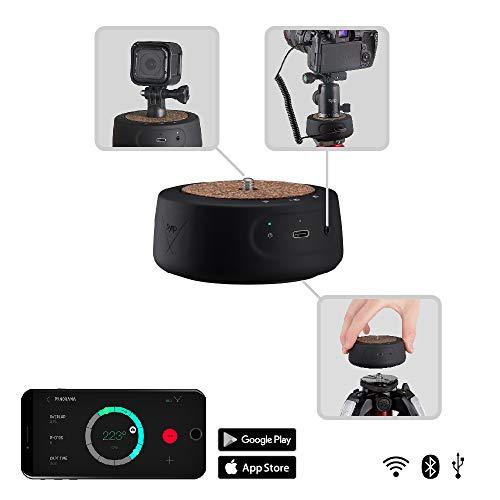 Syrp Genie Mini II Motion Control, Drahtlose Bewegungssteuerung im Taschenformat, Gewinde f. Kamera/Kopf/Slider/Stativ, Kompatibel mit den meisten DSLR, Spiegellosen, Videokameras, GoPro, Smartphones