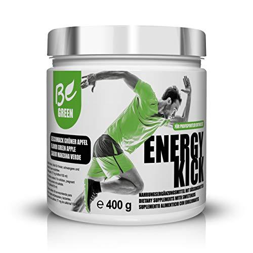BeGreen Energy Kick | Premium Pre-Workout-Booster ohne Zuckerzusatz für vollen Fokus und pure Leitung | langanhaltend, ohne Ups and Downs | entwickelt für den Profisport | 100% vegan | Made in Germany