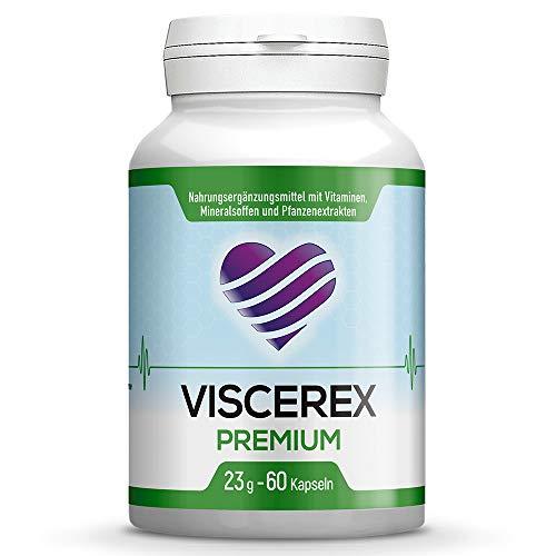 Viscerex Kapseln Premium - Mit hochwertigen & natürlichen Inhaltsstoffen I Maxi-Pack 60 Kapseln (1 Dose)