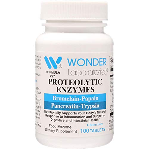 Proteolytic Enzymes   Bromelain Papain Pancreatin Trypsin 450 mg Total with Standardized Amylase, Lipase, and Protease (100)