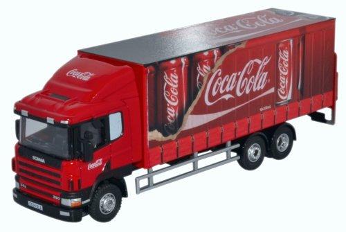 Oxford Scania 94D 6-Wheel Curtainside - Coca Cola
