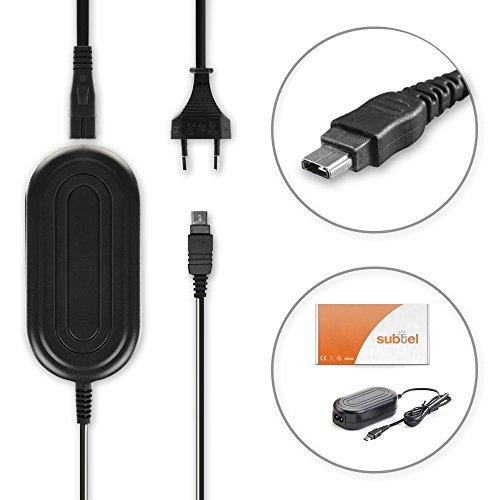 subtel® Qualitäts Netzteil kompatibel mit Panasonic Lumix DMC-TZ5 -TZ4 -TZ3 -TZ1, DMC-LX3 -LX2, DMC-FS3, DMC-FX01 -FX30 -FX35 - ca. 3m, DMW-AC5, Stromadapter AC Adapter Netzadapter