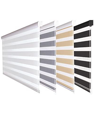 Fensterdecor -   Doppel-Rollo mit