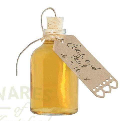 36 x Kleine Glasflaschen mit Korken - ideal für Hochzeitsbevorzugungen