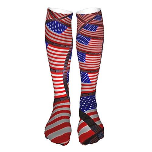 LLOOP Calcetines de pared con diseño de bandera americana en 3D para mujeres y hombres
