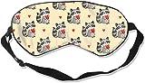 Travel & Naps & Yoga Meditation & Shift Work Blockout Blindfold with Adjustable Strap Good Night Eyeshade for Women MenCartoon Raccoon Sleep Eye Mask for Sleeping