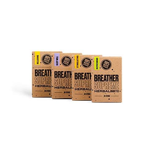 Herbal Cigarettes - Tobacco and Nicotine Free 4 Packs 80 Smokes
