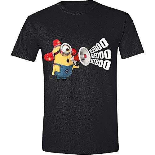 Official Merchandise Ich - Einfach unverbesserlich (Minions) - BEEDOO BEEDOO - Offizielles Herren T-Shirt - Schwarz, Small