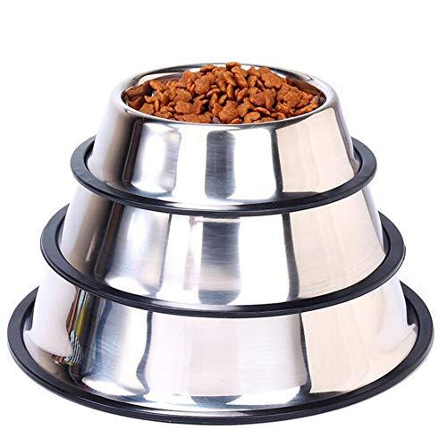 Laicve Recipiente para Mascotas de Acero Inoxidable, comedero de alimentación para Mascotas, Adecuado para alimentador de Agua de alimentación al Aire Libre para Gatos y Perros,M