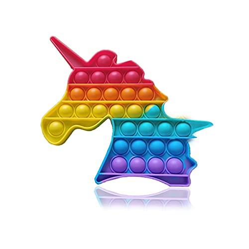 ENVIQE Pop it fidget toy, fidget toys, push pop antistress per adulti/bambini, Giocattolo Sensoriale per Autismo Bisogno Speciale Antistress Ansia Sollievo, Colorful Giocattoli a Bolle di Estrusione