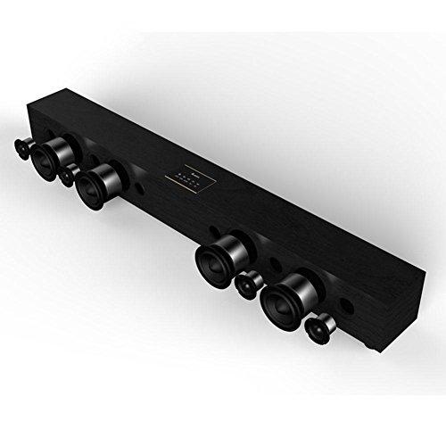 Z&YQWireless Bluetooth Echo Wall Soundbar Bluetooth 4.1 Multifunctional stereo speaker home theater Remote Control, black