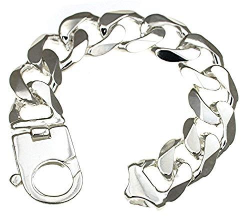 Panzerarmband 925 Silber 19 mm 23 cm Silber-Armband Damen Herren-Armband Herren-Schmuck ab Fabrik tendenze Italy D-G19-23v