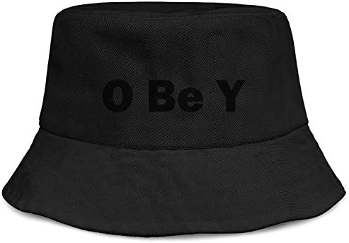 Unisex O Be Y Obey Cotton Wide Brim UV Protection Sun Hat Packable Beach Hat Summer Bucket Cap product image