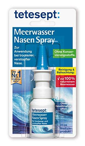 tetesept Meerwasser Nasen Spray – Nasenspray bei Erkältung, 20ml
