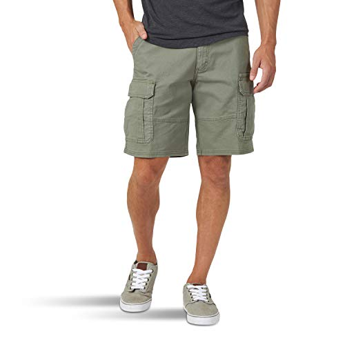 Wrangler Authentics Men's Classic Relaxed Fit Stretch Cargo Short, Dusty Olive, 38