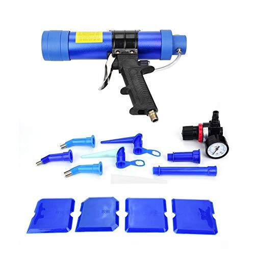 【】 Pistola para calafatear, pistola de aire neumática ajustable del sellador del...