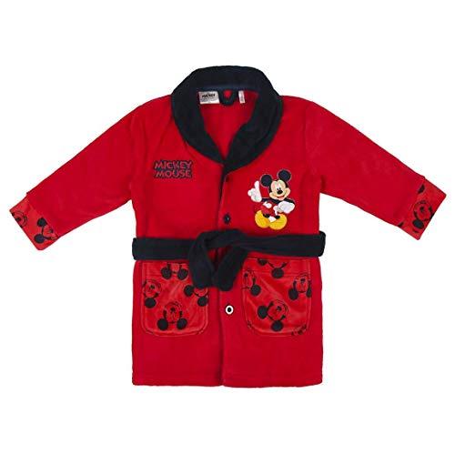 Disney Mickey Mouse Albornoz para Niños, Bata Azul Forro Polar Suave y Cálida, Bata de Invierno para Niños, Albornoz de Tacto Suave, Regalo para Niños, Talla 4 Años