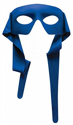 shoperama Accessoires für Superhero Herren Kostüm, Maske Blau