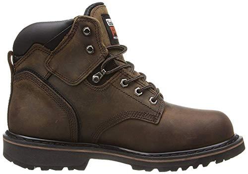 "Timberland PRO Men's Pitboss 6"" Steel-Toe Boot, Brown , 9 D - Medium"