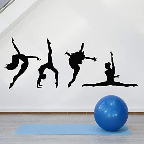 Pegatinas De Pared Arte De Pared Bailarina Chica Dormitorio Música Pasión Ballet Vinilo Decoración Gimnasio 30X76Cm